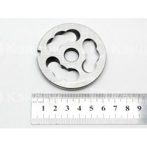 Нож (решетка) подрезной мясорубки МИМ-80 (без бурта, нерж.сталь, 60x6 мм, 12 мм)