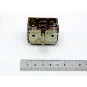 Переключатель плиты Rada ПЭ-704 (ПМЭ27-23412-УХЛ4, 16 А, 0-3 позиционный, 48x44 мм)