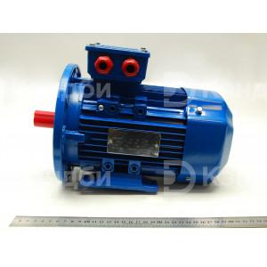 Двигатель асинхронный (АИР 80В4, IM2081, 1500 Вт, 220-380 В, 1400 об/мин, 5.3 А)