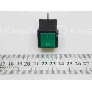 Выключатель клавишный зеленый (KCD4, 2 положения, 4 контакта)