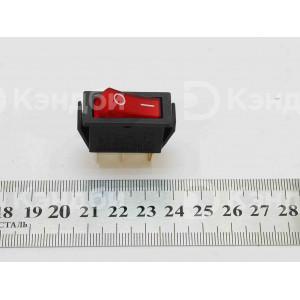 Выключатель клавишный узкий (красный, 2 положения, 3 контакта)