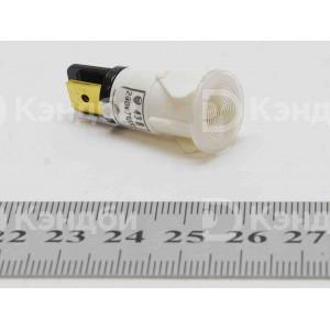 Лампочка индикации (белая,13 мм, 220 В, 120 градусов)