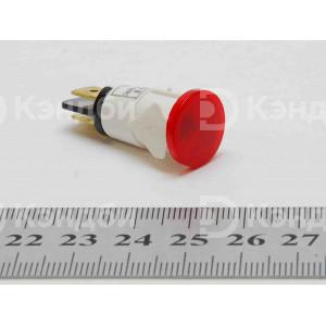 Лампочка индикации (красная, 13 мм, 220 В, 120 градусов)