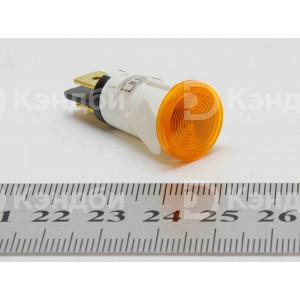 Лампочка индикации (оранжевая, 13 мм, 220 В, 120 градусов)