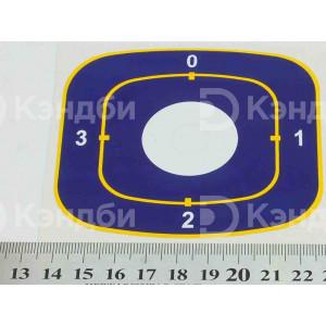 Наклейка под переключатель плиты Abat ( 165*65 мм, 4 положения )