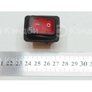 Выключатель клавишный красный (2 положения, 4 контакта, Турция)
