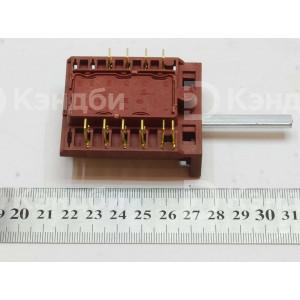 Переключатель электрической плиты Электра-001, Лысьва 0-6 пазиционный (ПМЭ 27-23711, 39.5 мм, 16А)