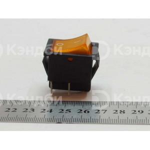 Выключатель клавишный оранжевый (KCD4, 2 положения, 4 контакта)