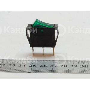 Выключатель клавишный узкий (KCD1, 2 положения, 3 контакта)