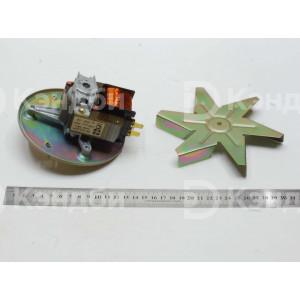 Электродвигатель с крыльчаткой плиты Rada ПЭ-726ШК (ДВ-70-2,4 КН, 220 В, 30 Вт, 2400 об/мин)