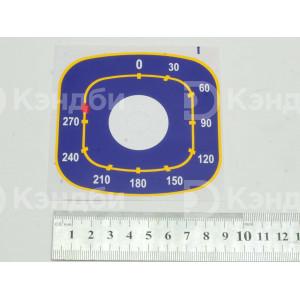 Наклейка терморегулятора жарочного шкафа Abat (ЭПК48-00.00.004-02, 50-270 градусов)
