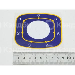 Наклейка под переключатель плиты Abat (ЭПК48-00.00.004, 7 положений )
