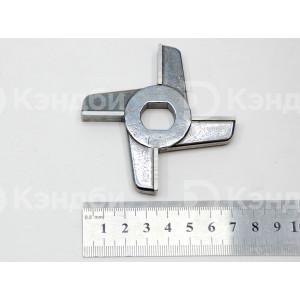 Нож двусторонний без бурта для мясорубки Торгтехмаш МИМ-300 (легирование хромом)