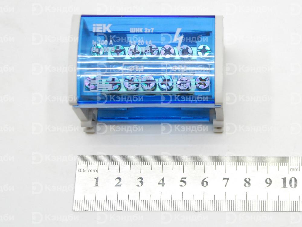 Шина нулевая в корпусе IEK (ШНК 2x7, 400В, 100А, IP20)